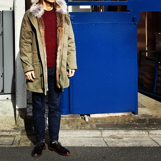 jacob_next_door #yvessalomon のモッズコート、圧倒的最強&最高です。 確実におかわりの予感… Outer…#yves_salomon Knit…#uniqlo  Pants…#orgueil Shoes…#alden #aldenarmy #aldenshoes ------------------ #fashion #cordinate #instastyle  #dapper #dappermen  #mencordinate #menfashion #menstyle #menswear #mnswr #oufit #ootd #outfitoftheday  #style #styleoftheday #sotd  #styleformen #todayoutfit #styleforum 2017/01/14 11:40:36