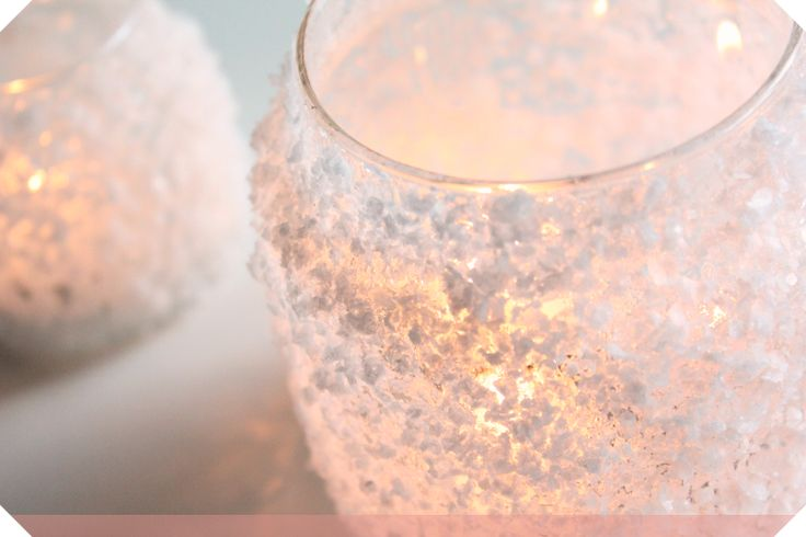 DIY | Frosted Candle Jar