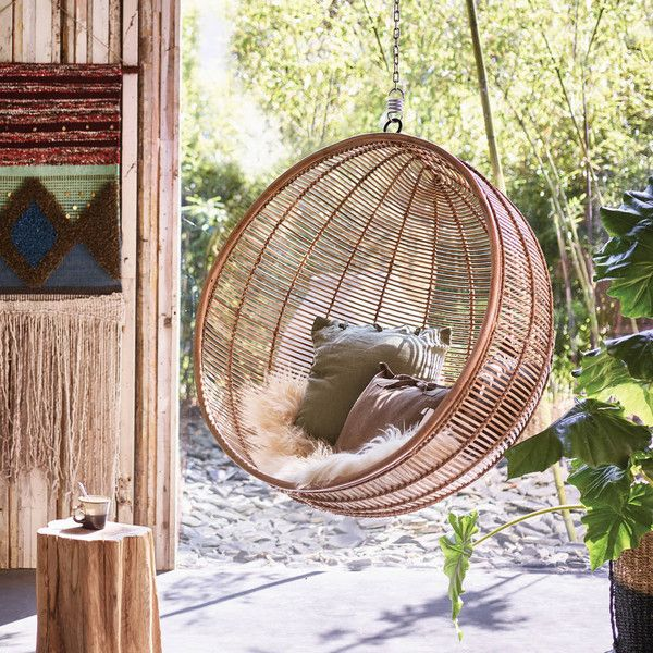 Ciel Bali Hanging Chair, Rattan Inside Outside Living (£895) ❤ Liked On