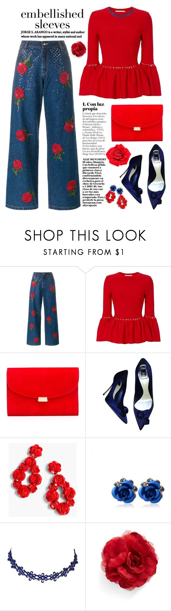 """""""Sin título #4261"""" by licethfashion ❤ liked on Polyvore featuring Ashish, Jonathan Simkhai, Mansur Gavriel, Christian Dior, J.Crew, Cara and Johnny Loves Rosie"""