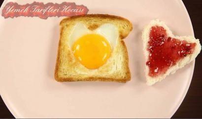 Kalpli Yumurtalı Ekmek #TatlıTarifleri #haşlanmışyumurtadanşekiller