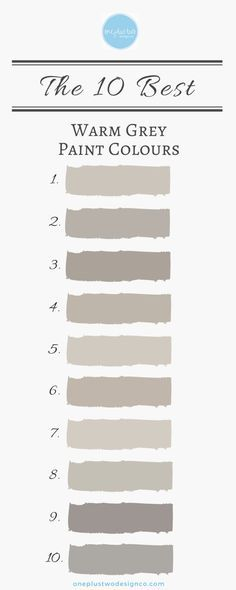 The 10 Best Warm Grey Paint Colours #decorating #Paint #gray #warmgray