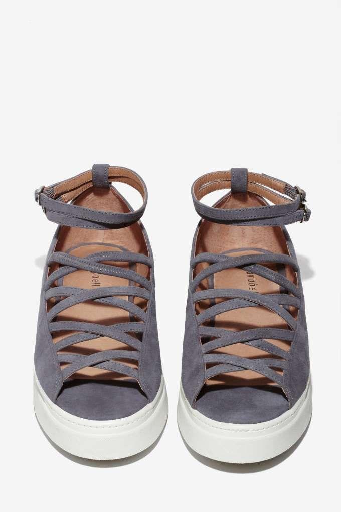 Jeffrey Campbell Aisha Suede Lattice Shoe//