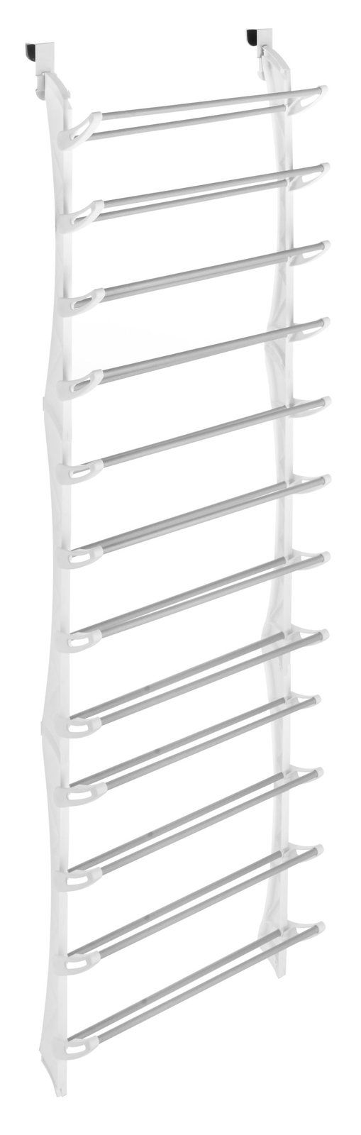 Over The Door 36 Pair Shoe Rack, White   Casa.com