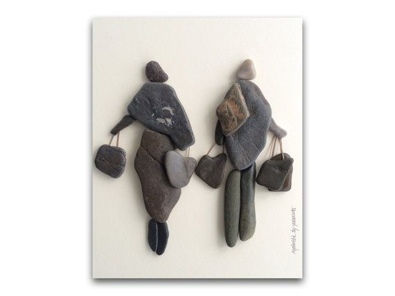 Wall hanging creative pebble art made with pebble & by yasavas