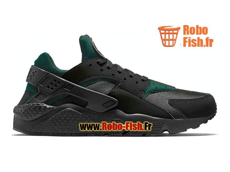 Huarache Noir Vert
