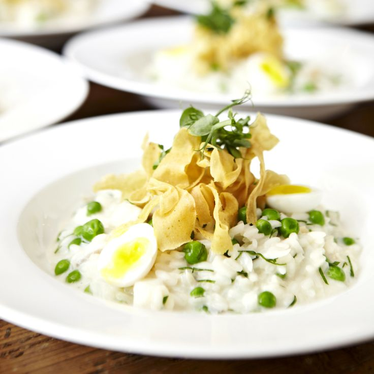 Smoked haddock risotto, soft boiled quail eggs, parsnip crisps recipe - Woman And Home