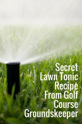 The lawn tonic recipe came from a former groundskeeper at a golf course. All you need are 5 common household ingredients and a 10-gallon hose-end sprayer.