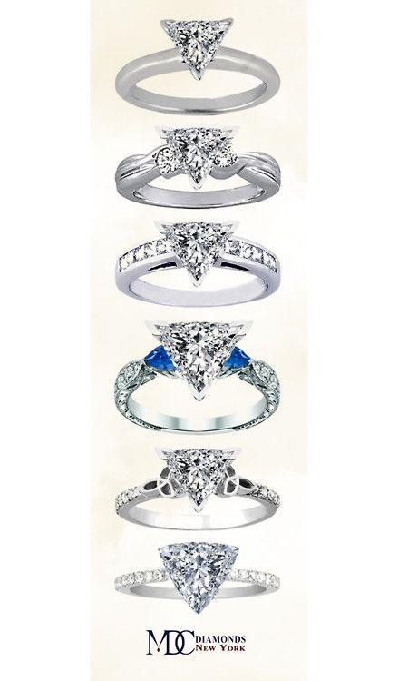 Trillion Cut Diamond Engagement Rings Ring