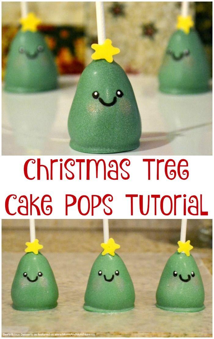 Christmas Tree Cake Pops Tutorial - an adorable holiday dessert!