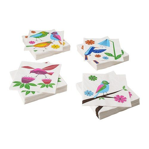 bird napkins ikea gender reveal party little birdie. Black Bedroom Furniture Sets. Home Design Ideas