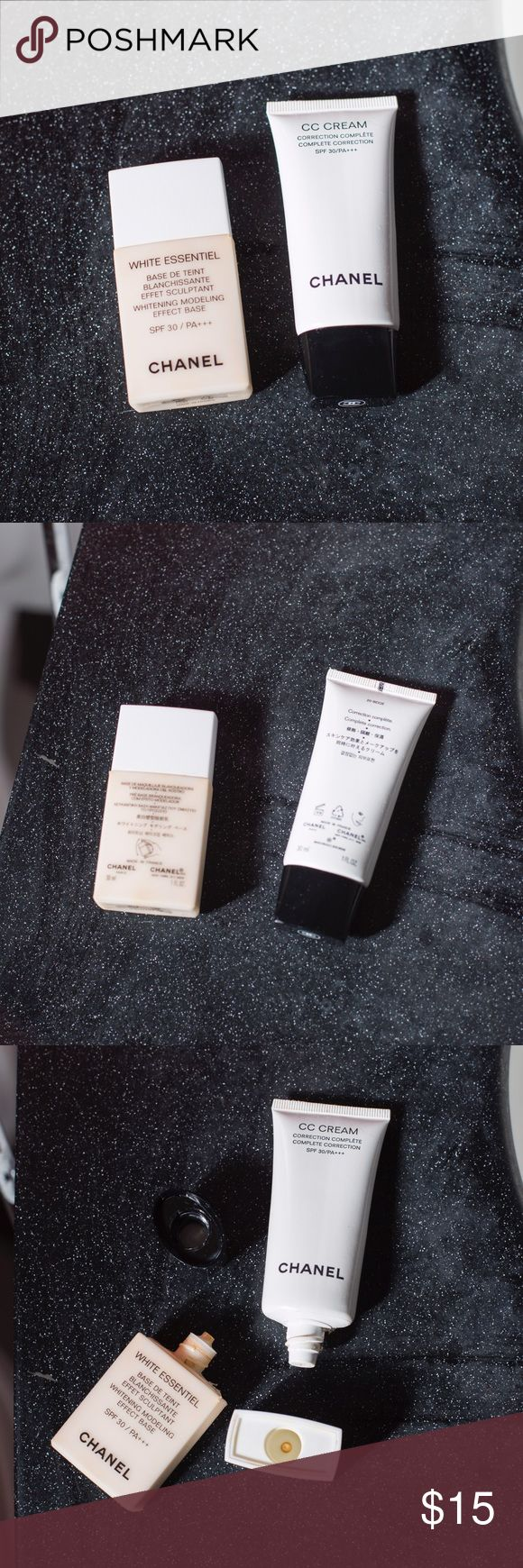 Chanel White Essential Base and CC Cream - Chanel White Essential Base SPF 30 PA+++ ( have 2/3 remained) - Chanel CC Cream ( only used twice)  $15 for all CHANEL Makeup Foundation
