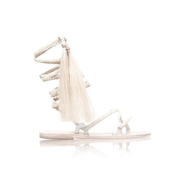 Ivory Talitha Sandal (€555) ❤ liked on Polyvore featuring shoes, sandals, talitha, ivory sandals, ivory shoes and winter white shoes