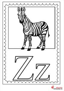 Litera Z - Planșă de colorat