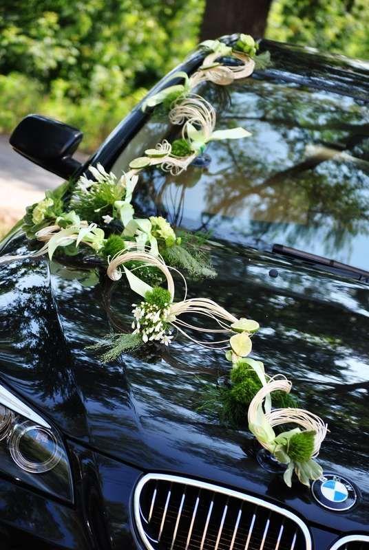 Оригинальная гирлянда из лент, листиков, соцветий и цветов, для украшения капота автомобиля. - фото 2108036 Irina Veselik - дизайнер событий