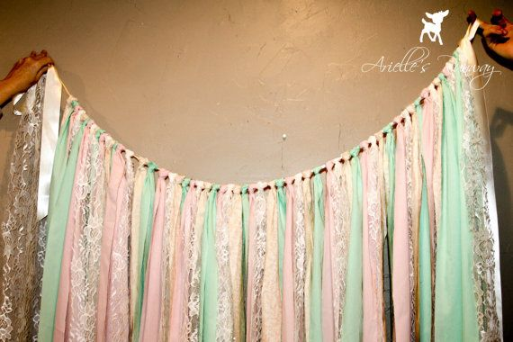 FABRIC STREAMER BACKDROP: Streamer Backdrop Only ~ Your Color Choice
