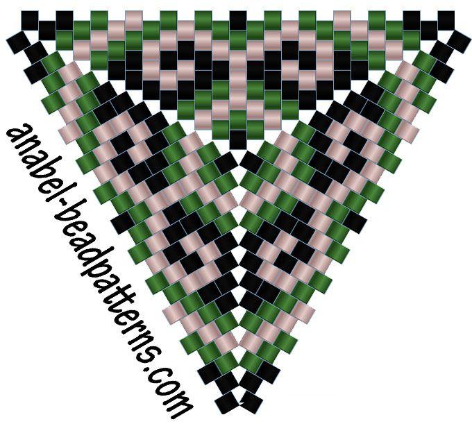 Схема треугольника - серьги - Free peyote triangle pattern http://www.anabel-beadpatterns.com/