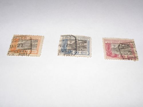 3x1925 stamps of Spanish Guinea. Sold. Продано