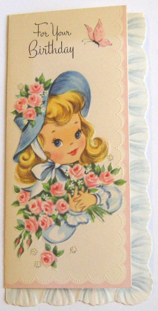 Vintage Birthday Card - For Your Birthday