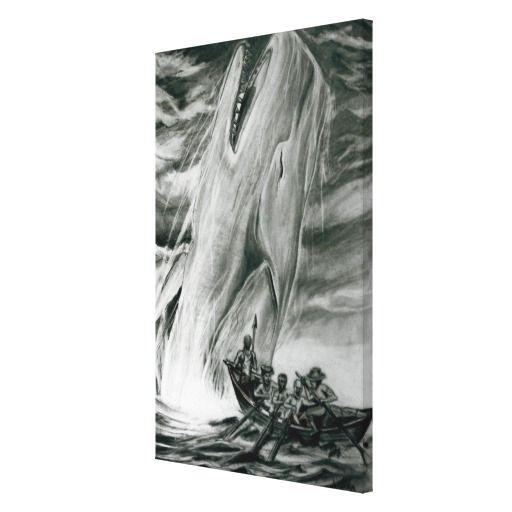 Tela (60,9cm x 40,6cmx 3,8cm) caça da baleia impressão em tela