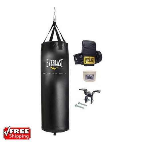 Everlast 70 lb Boxing Heavy Bag Kit Gloves Wraps MMA Punching Training Black NEW | Sporting Goods, Boxing, Martial Arts & MMA, Training Equipment & Supplies | eBay!