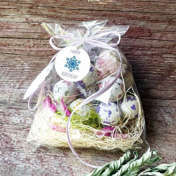 Flower Seed Bomb Birthday Blue Snowflake theme Party Favors 18 Wild Flower mixed shape Seed Bombs Spring Gardening
