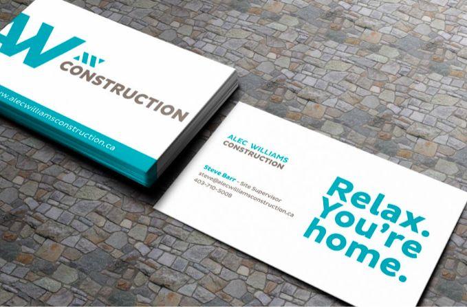 Brand refresh and web design by Blackcoffee www.AlecWilliamsConstruction.ca