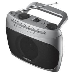 Rádio Portátil Mondial RP-01 com Sintonizador de TV – Prata