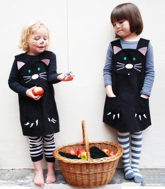 Meisjes kat jurk van wildthingsdresses op Etsy