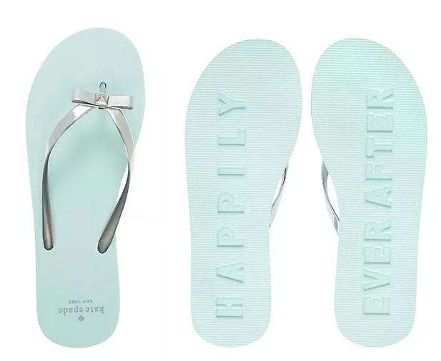 Engagement Gift Ideas: Kate Spade 'Happily Ever After' flip flops