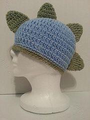 Ravelry: Gavin's DinoRAWR Spiked Beanie Hat Crochet Pattern pattern by Niki Wyre