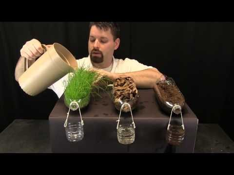 Erosion & Soil experiment. Jared explains why erosion occurs more slowly when soil is paired with leaf debris or plants. Learn more about erosion at http://learningscience.org/esc1cchang.... It's a link to our companion website learningscience.org. There you'll find lots of fun, interactive science sites for kids.