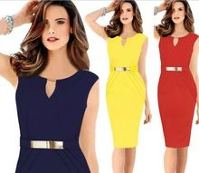Free shipping 3 colors elegant pencil dress one-piece dress plus size Ladies Slim Small V-Neck Bodycon Dress 895H 20(China (Mainland))