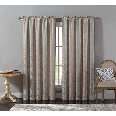 House of Hampton Chadderton Blackout Single Curtain Panel Color: