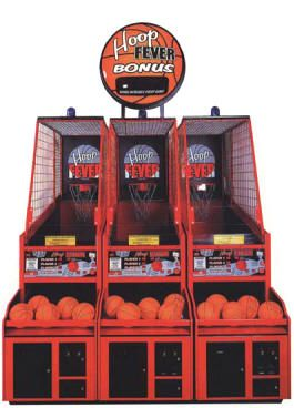 Hoop Fever Three Player FEC Model With Jackpot Marquee Coin Operated Basketball Arcade Game Center By Innovative Concepts In Entertainment /...