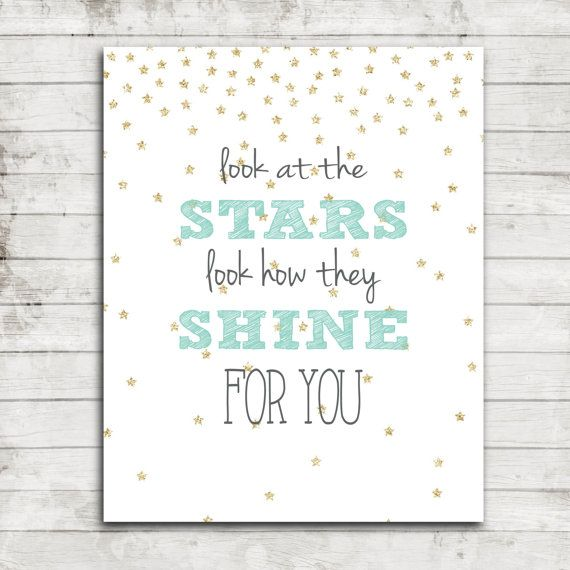 Printable 8x10 Download Look at the Stars by ZoomBooneCreations