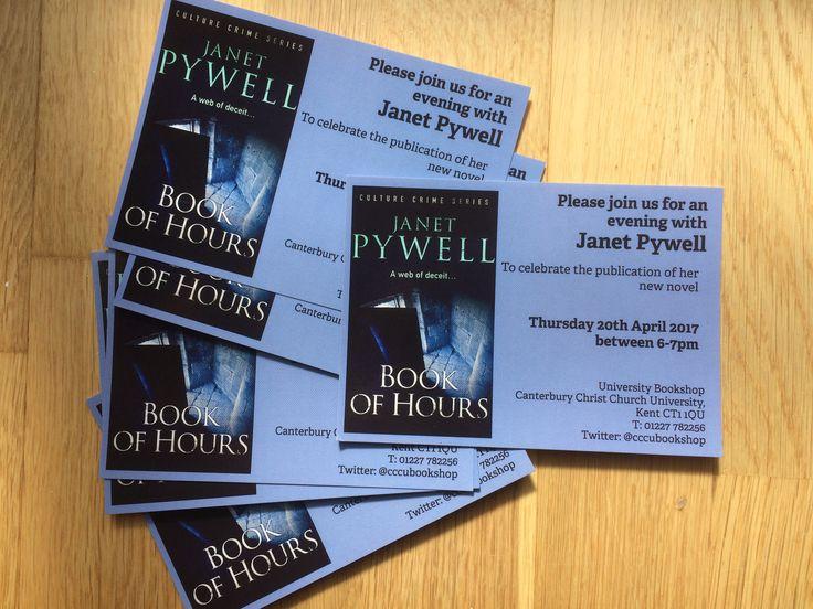 Book launch invitations.