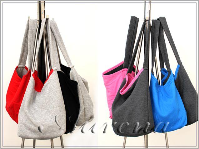 torby z bawełny dwukolorowe, torba dresowa dwustronna, worek na zakupy, produkt polski cotton bawełna dressówka