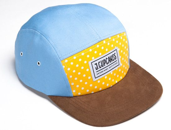 Polka Dot 5 Panel Hat By JOHNNY CUPCAKES