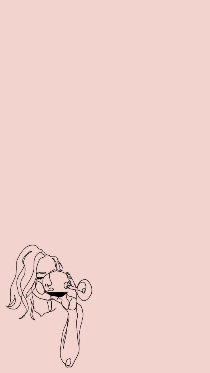 Edited From Photo On Punterest Edited By Dara M Wallpapers Pink Arts Lineart Girl Iphone Iphon Art Wallpaper Iphone Art Wallpaper Minimalist Wallpaper