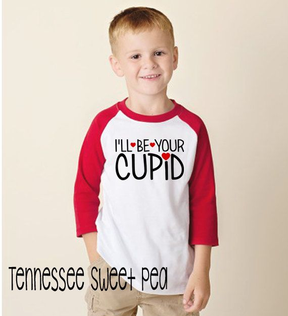Unisex Valentine's Shirts, Kid's Valentine's Shirts, Raglan Tees, Raglan Valentine's, Toddler Valentine's, I'll be Your Cupid by TennesseeSweetPea on Etsy