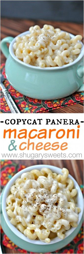 Copycat Panera Macaroni and Cheese - Shugary Sweets