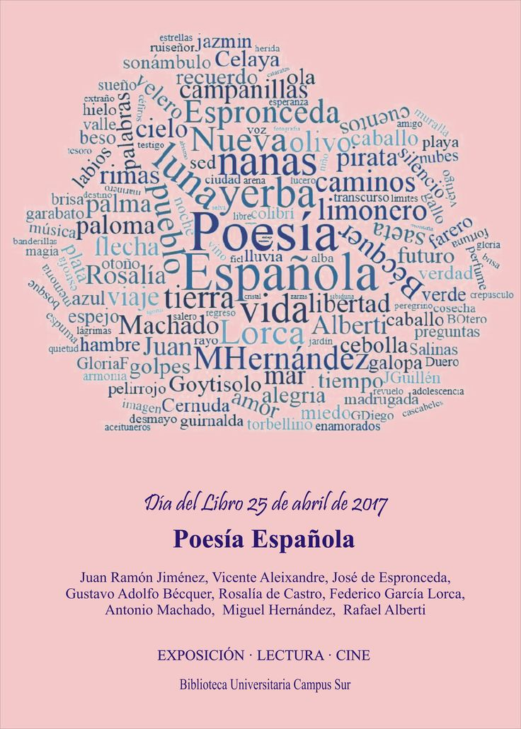 Día del Libro 2017 | Dedicado a la Poesía española