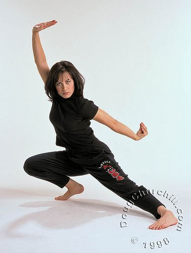 Shannon Lee (you may have heard of her father...Bruce). *my name's shannon and I do martial arts!!!!! so cool!