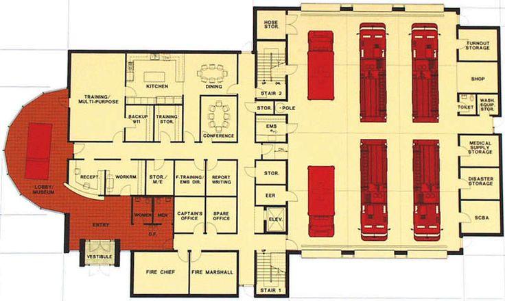 Fire Station Pinterest Floor Plans