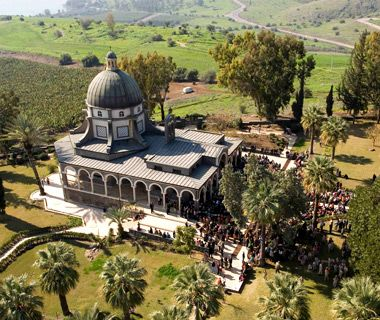 "Mount of Beatitudes, Galilee, Israel -  Jesus is said to have delivered his inspirational Sermon on the Mount (including the ""Blessed are"" litany) on this very spot."