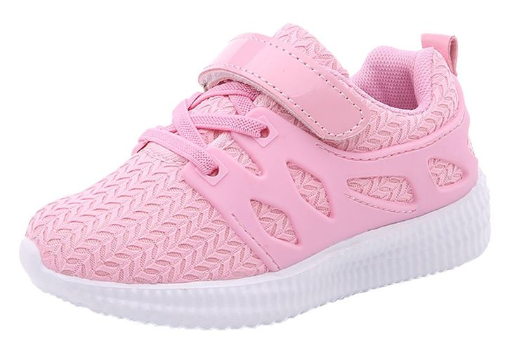 iDuoDuo Kids Breathable Mesh School Gym Shoes Lightweight Sport Running Shoes Pink 8.5 M US Toddler. Unisex kids running shoes with hook-and-loop closure, easy to pull on and off by themselves. Featuring breathable and wear-resistant mesh material with beautiful and cute texture design. Reinforced elastic shoelace front and anti-collision toe design, provide kids more protection. Breathable and comfortable mesh and cotton lining brings kids better wearing experience. Natural anti-slip…