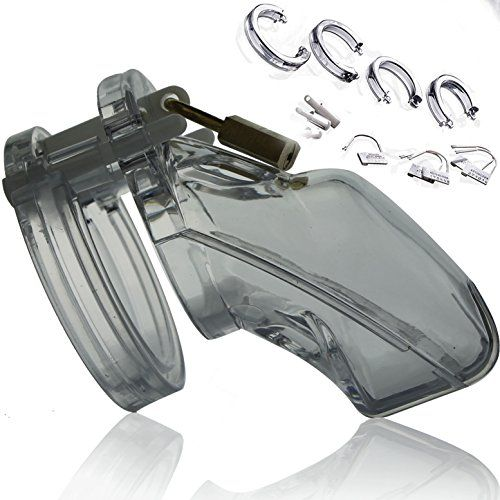 n28 SENSUAL – CB-6000 Cock Cage + Ringsatz, Keuschheitsgürtel für Männer, Peniskäfig Keuschheit für Ihn – Keuschheitskäfig, Keuschheitsschelle …