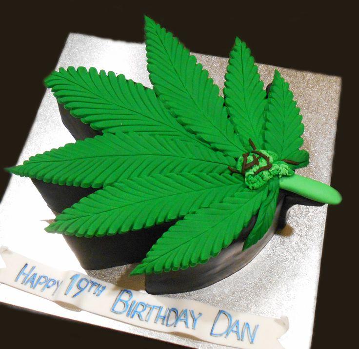 Marajuana Leaf Birthday Cake - by Nada's Cakes Canberra