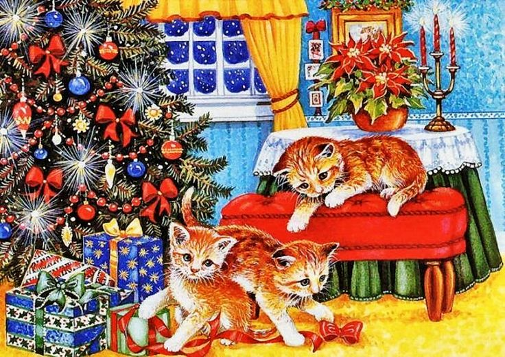 Открытки котов с елочкой, курбан-байрам татарском открытки